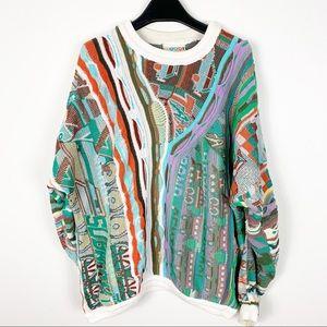 Vintage Coogi 90s Hip Hop biggie sweater colorful